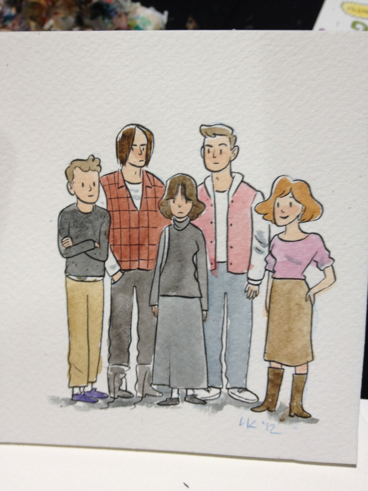A custom watercolor from this past weekend's Thought Bubble Festival.