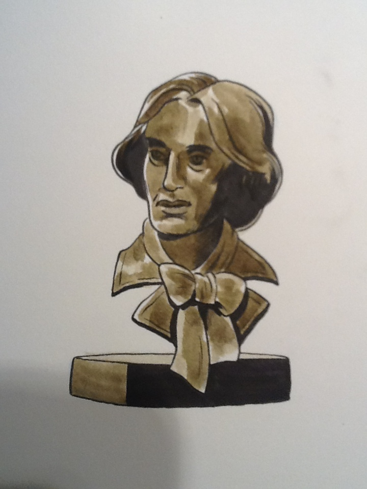 Spent some time today at the Dublin Writer's Museum. It's a funny little place, with some original Wilde production programs, and a very nice bust of him, gazing serenely out into the room dedicated to Beckett, Yeats, Stoker and Joyce. This has been a really interesting literary visit to Dublin!