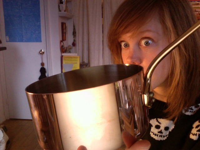My new little pot is so shiny and perfect and lovely. All hail the pot. No but seriously I am really excited about it.