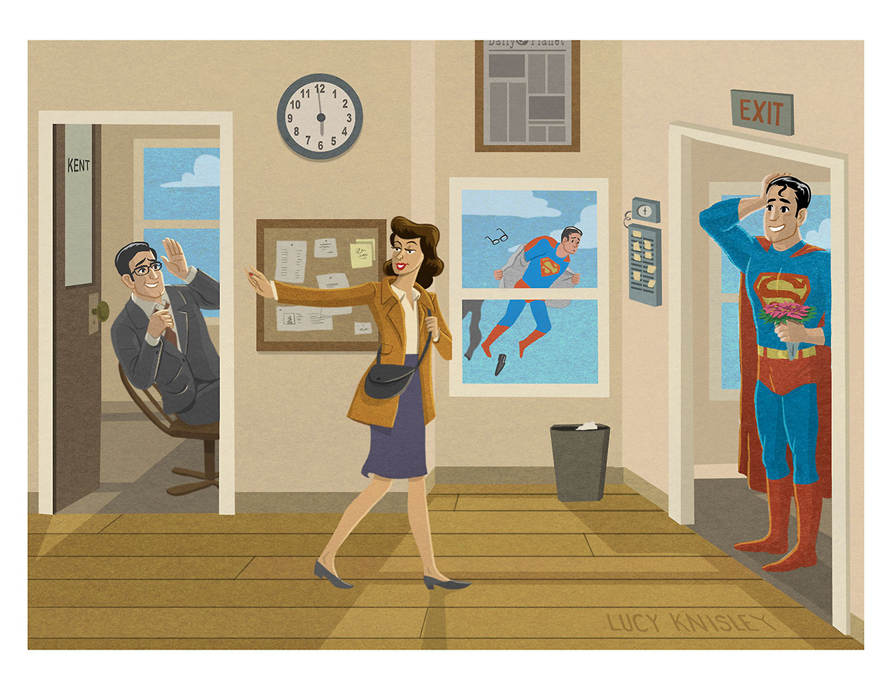 I was just thinkin' about superman recently. And how awesome Lois Lane is. She's too much woman for TWO identities.