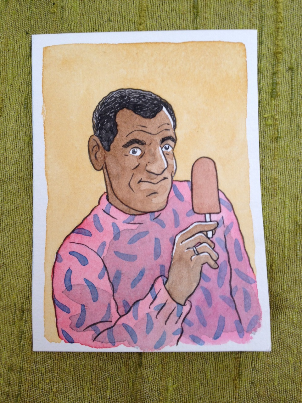 Come see me at CAKE fest today and get a $20 convention commission— how about a dad portrait for Father's Day? More delicious than a pudding pop.