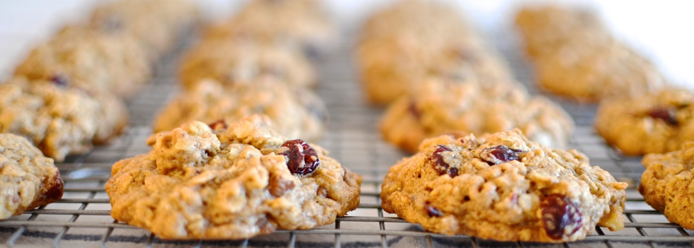 brown butter chunky oatmeal cookies