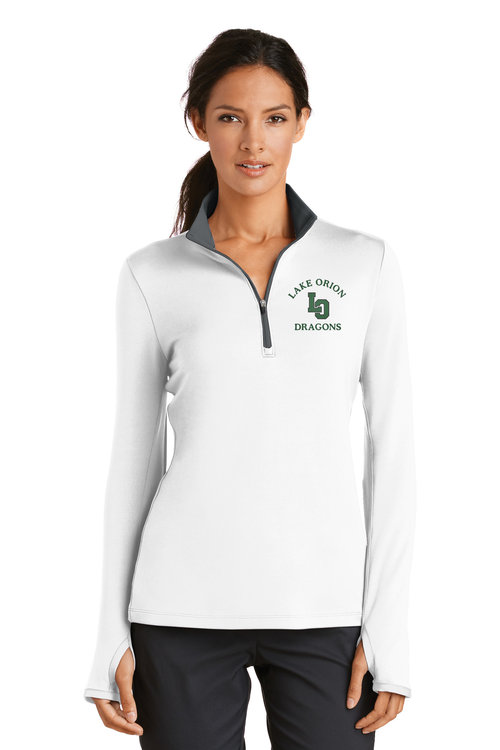 Nike Golf Ladies Dri-FIT Stretch 1 2-Zip Cover-Up. 779796. — Custom ... aad770e45