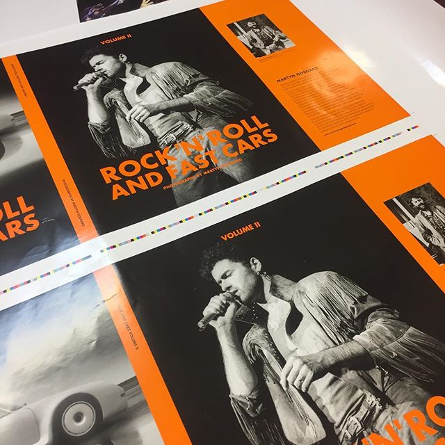 Hot off the press. First running sheets of Rock n Roll Vol 2. Can't wait to see the finished book #martyngoddard #reallyusefulproducts #photography #bookdesign