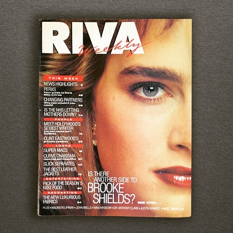 Magazines from our archives. Memorable Riva reunion lunch with @loubadermorrison @ianfindlay_iforma @chelseaartsclub @chickenshedstudios #editiorialdesign #coverdesign #magazinedesigners #magazinedesign