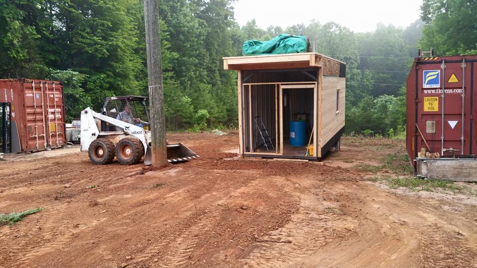 Camp tiny House container house build site