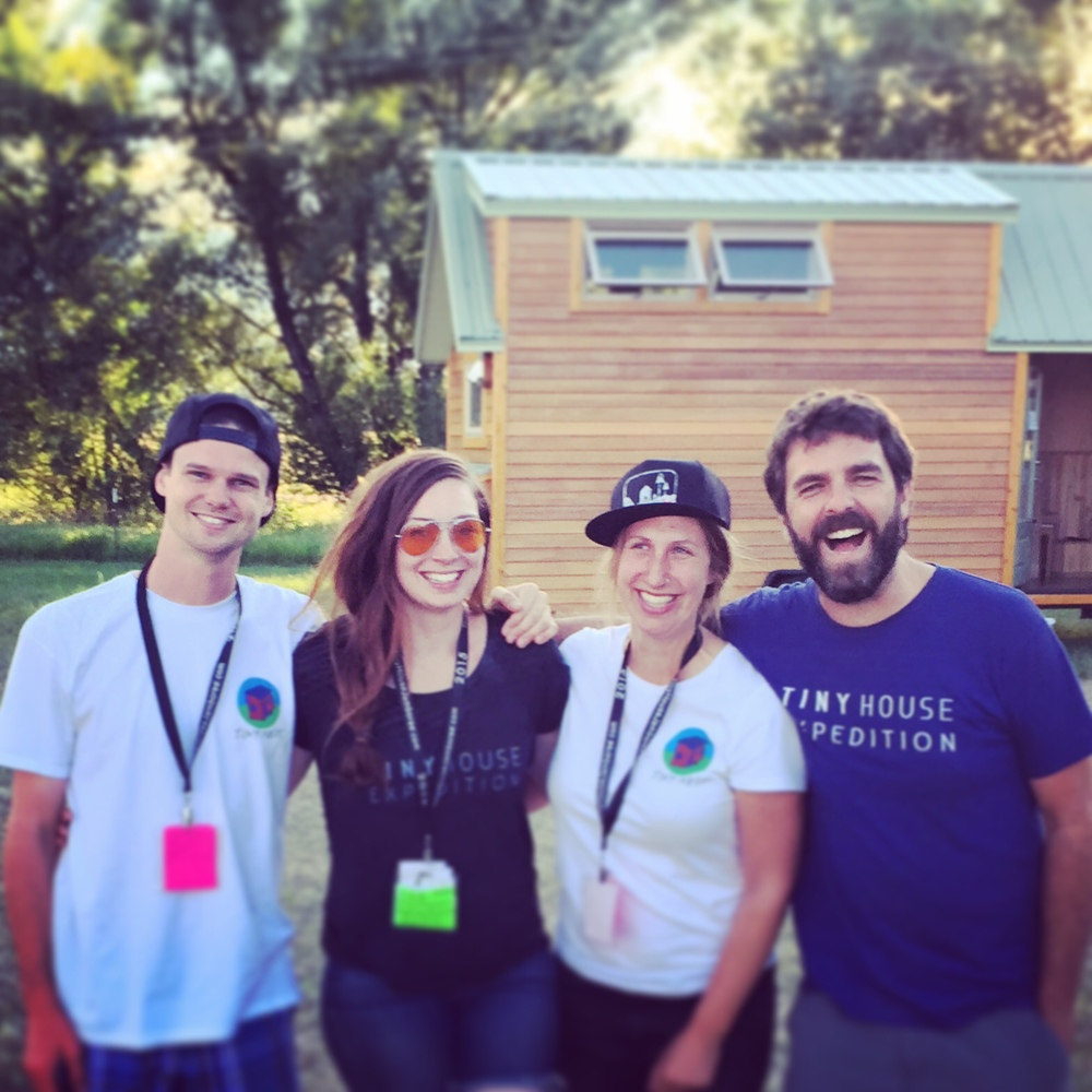 New friends! Kiva & Jake from Tiny Nest. Their YouTube series documents their tiny house build from start to finish.