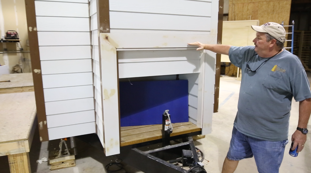 Bret shows us his inventive tiny house 'garage' that is accessible from the inside of the house