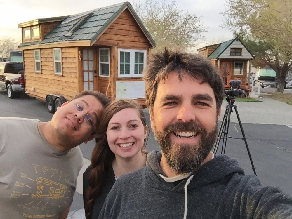 Traveling tiny housers meet! TinyX & Mario of tinyhousemd.com