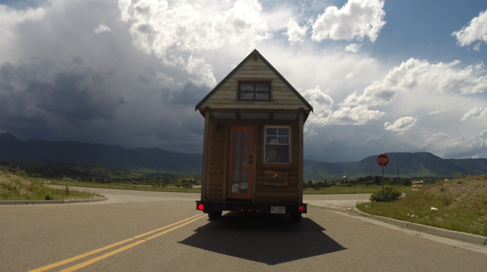 OUr tiny Home on the road in Colorado #TinyX