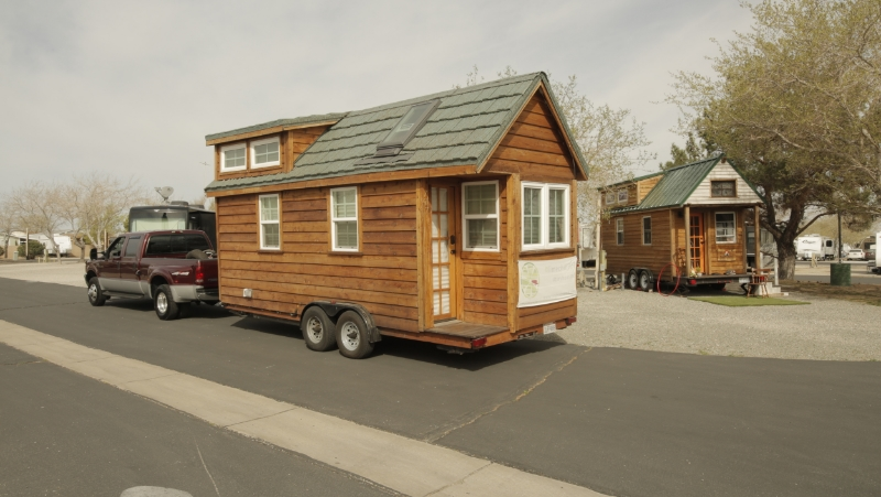 Two traveling tiny house meet on the road! #TinyX and TinyHouseMD