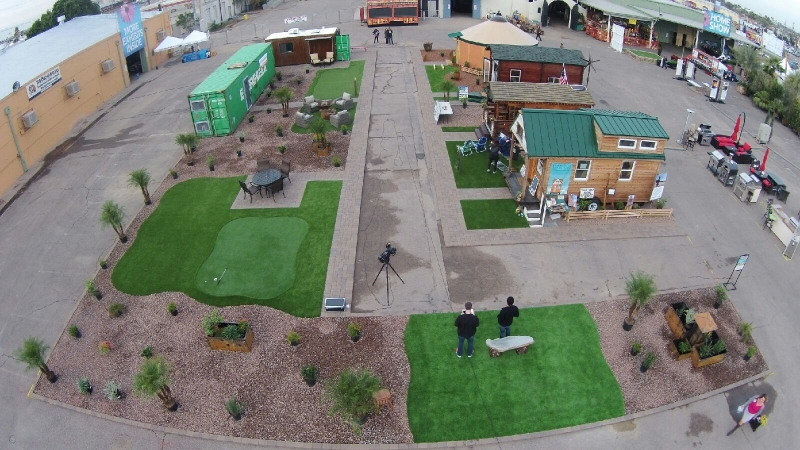 The tiny home village at the Maricopa Home & Garden Show in Phoenix