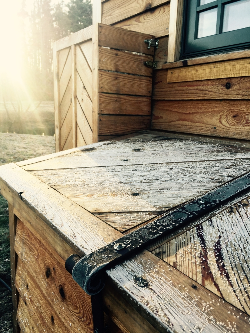 Our tiny home's first frost at The Village of Wildflowers