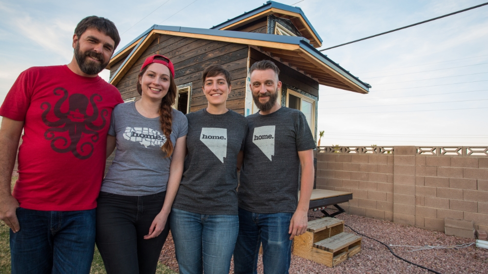 Alexis & Christian with Megan & Jeff of Room to Spare Tiny House