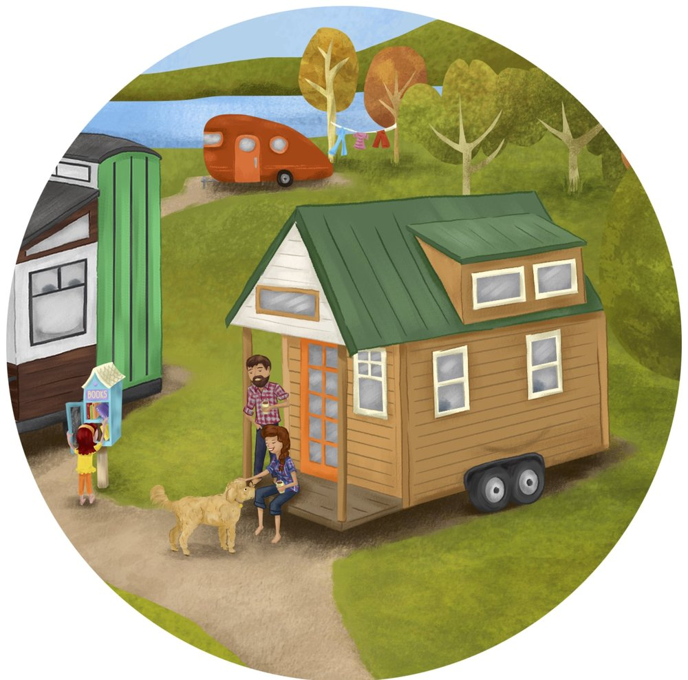 "from ""The Big Adventures of Tiny House"", a children's book inspired by our DIY Salvage-built tiny home & our Tiny house Adventures"
