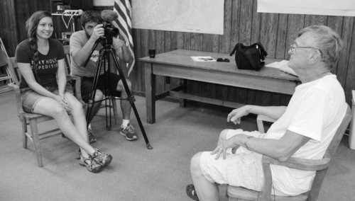 Interviewing Walsenburg Planning Commissioner, David roesch