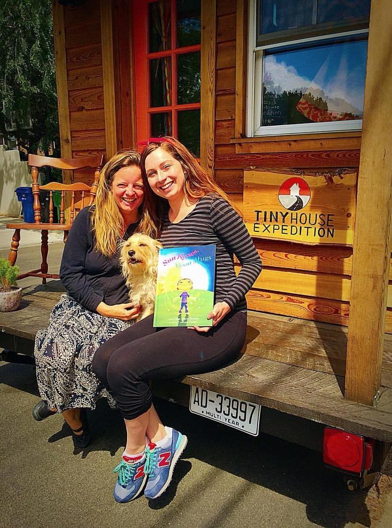 "With my friend, Susan Bernardo, author of ""Sun Kisses Moon Hugs"" & ""The Big Adventures of Tiny House"""
