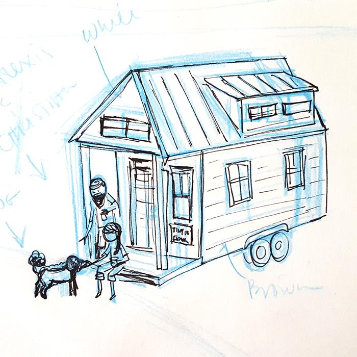 Sketch by Courtenay Fletcher