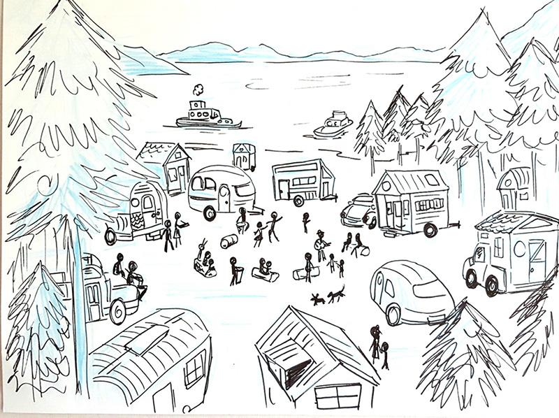 Sketches by Courtenay Fletcher