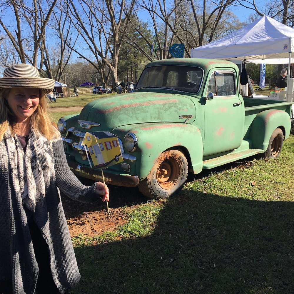 Susan and Tiny at the Georgia Tiny House Festival. Photo by Kevin Polk