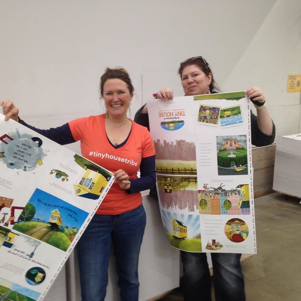 "Fresh off the presses! ""The Big Adventures of Tiny House"" was printed in the town where BA Norrgard lives"