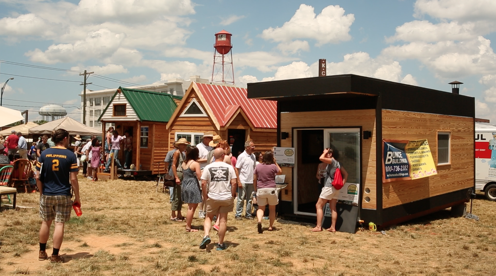 Tiny house expedition on the green, 6/20/15, a tiny house community showcase, pop-up park & party in Downtown Winston-Salem, nc