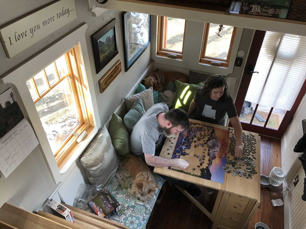 Inside The Luck Linden, puzzle time w/Meg & Dan