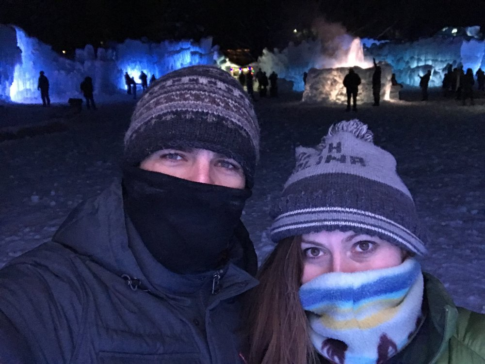 11 below at the Ice Castles in Heber City, UT