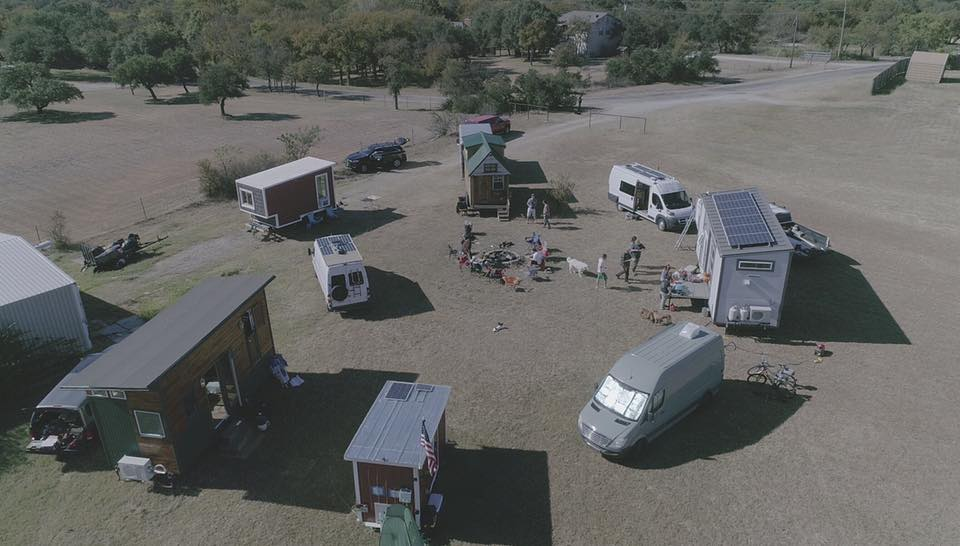 A temporary pop-up Tiny home Community in North texas