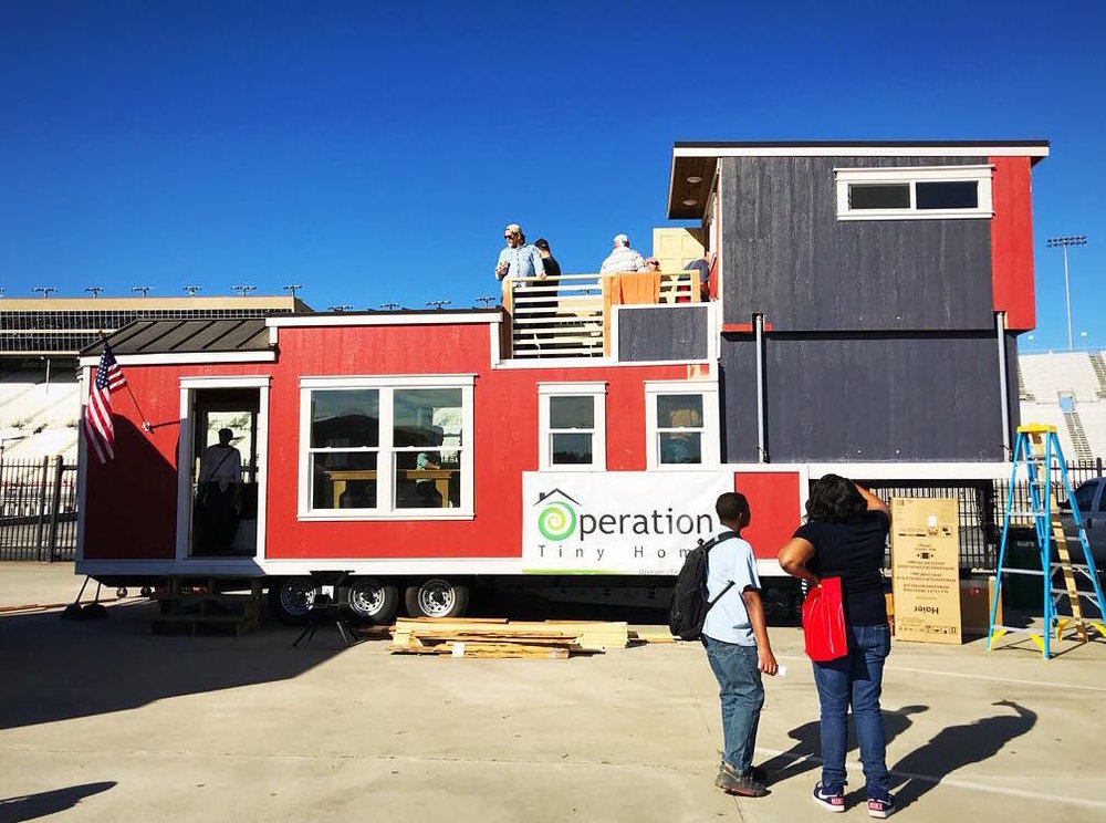 Zack Giffin's tiny house creation for Operation Tiny Home