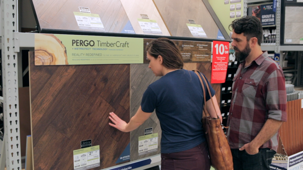 Picking out our new floors at Lowe's Home Improvement