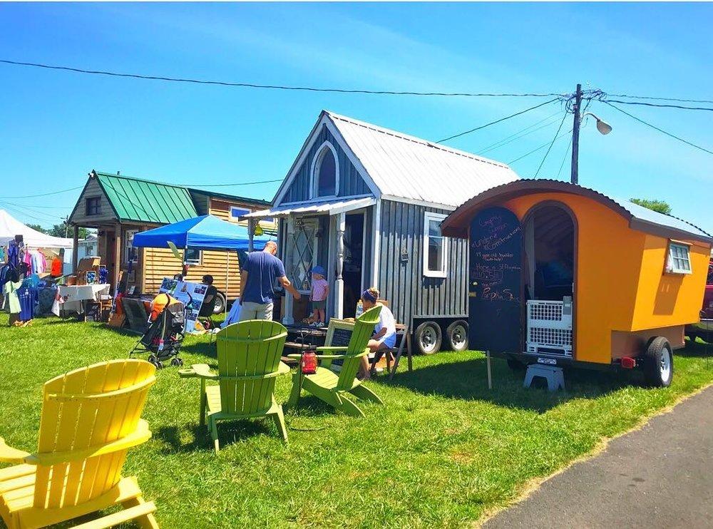 Our tiny house next to nawaka at the dc/va tiny house festival