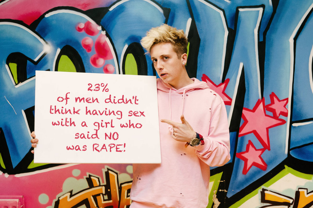 23% of men didn't think having sex with a girl who said 'no' was rape.