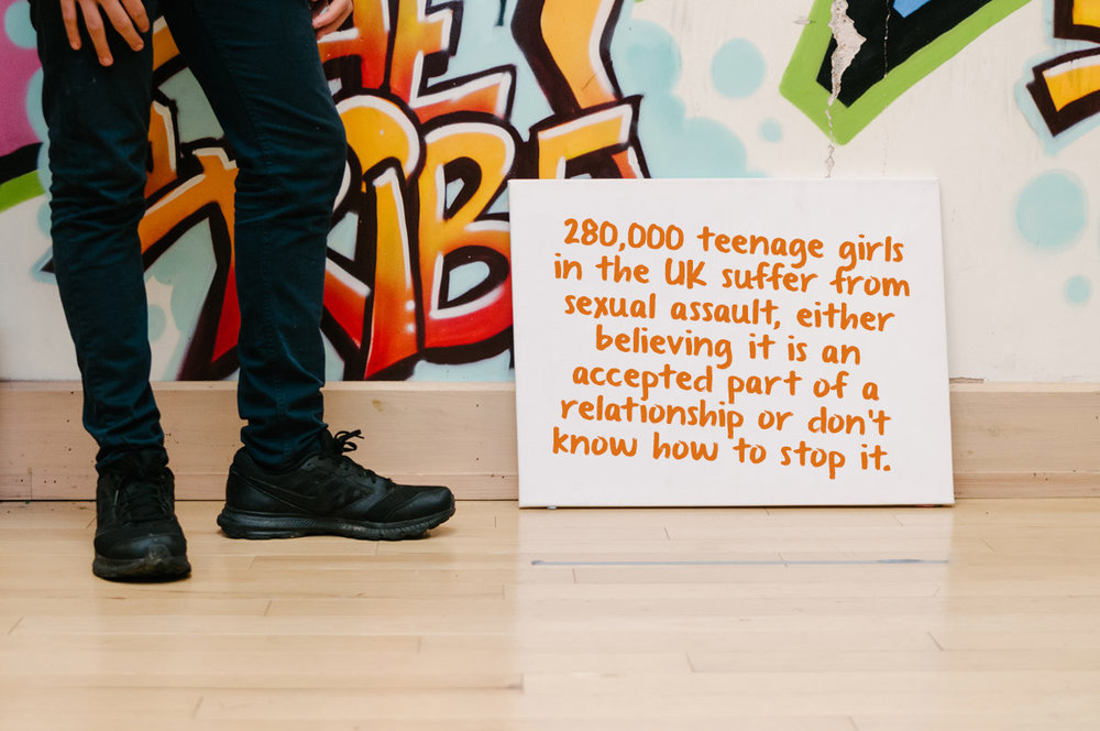 280,000 teenage girls in the UK suffer from sexual assault, either believing it is an accepted part of a relationship or don't know how to stop it.
