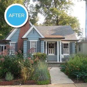 House After Rain Garden