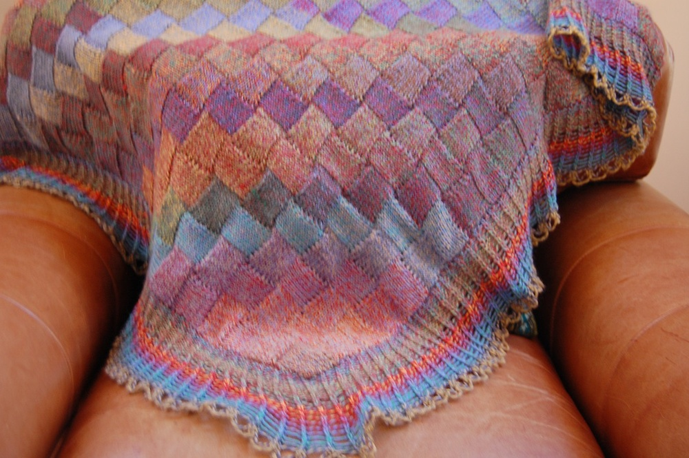Entrelac Shawl by Alex Lear