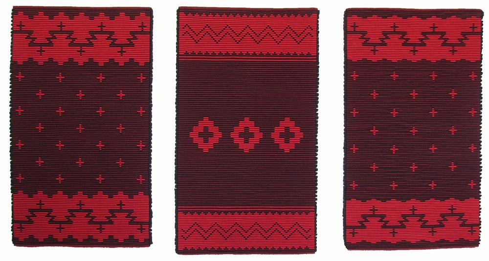 Navajo Red and Black Triptych by Melodie Usher