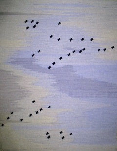 Sandhill Cranes Over Pajarito Acres by Evelyn Campbell