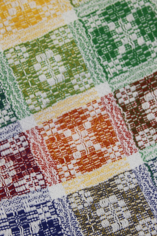 Detail of Overshot Blanket by Evelyn Campbell