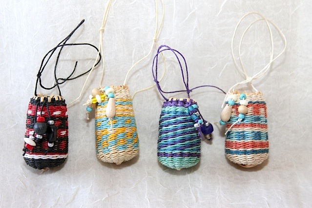 Miniature Baskets Woven by Melinda Bell