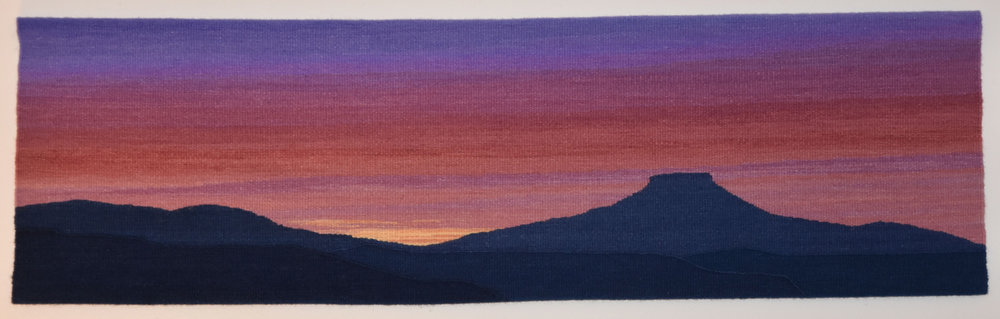 Dusk Over Pedernal tapestry by Sarah Warren