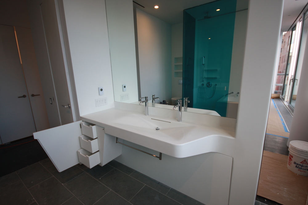 Large sink unit - Master Bath - Open