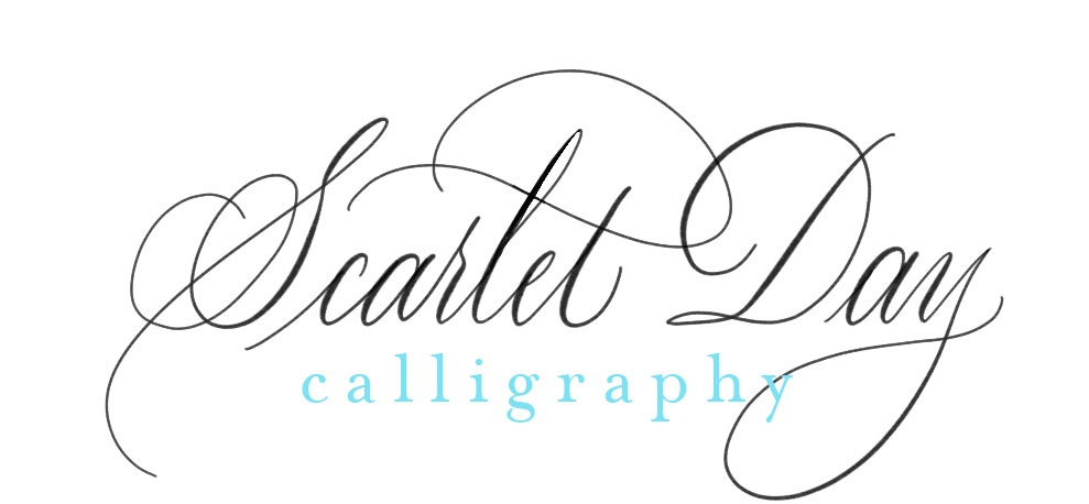 Scarlet Day Calligraphy