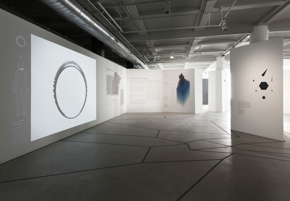 installation view of takram zone Sullivan Galleries, The School of the Art Institute of Chicago completion-state photographs by James Prinz