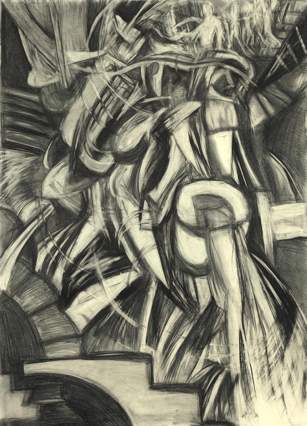Study: Duchamp Nude Descending a Staircase No.2