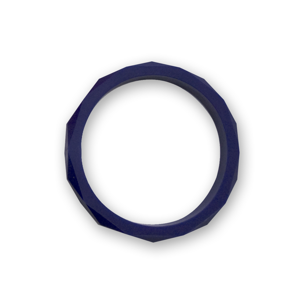 Navy blue faceted bangle