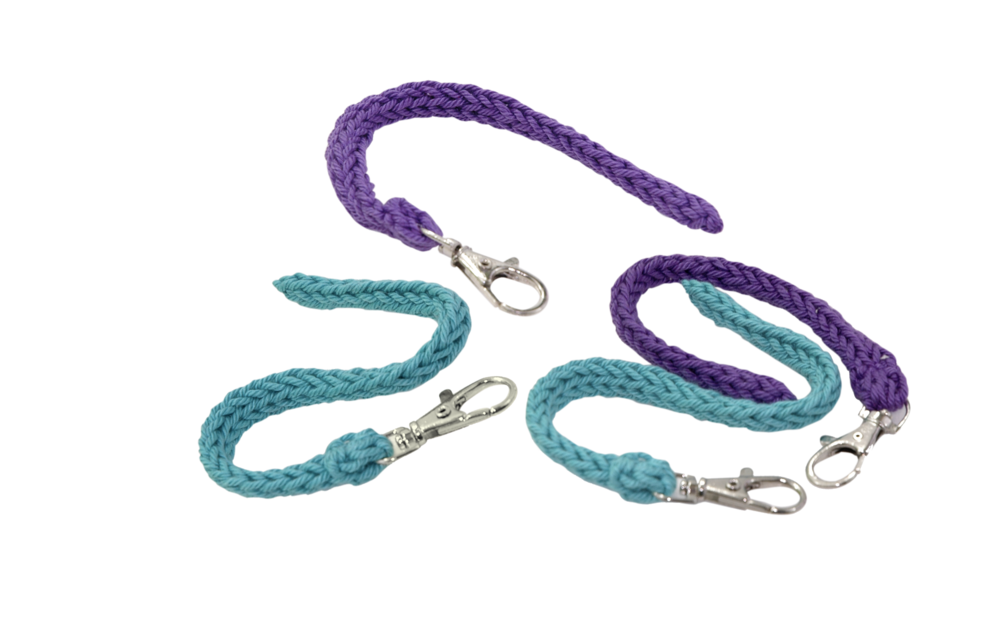 Short Fidget Cords in Turquoise and Grape