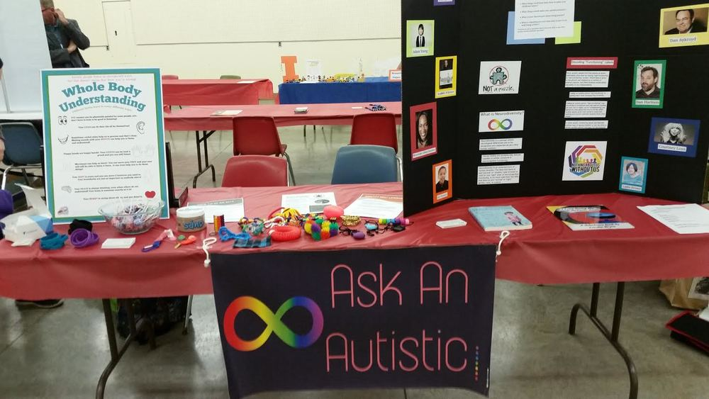 "Isaac's ""Ask an Autistic"" table"