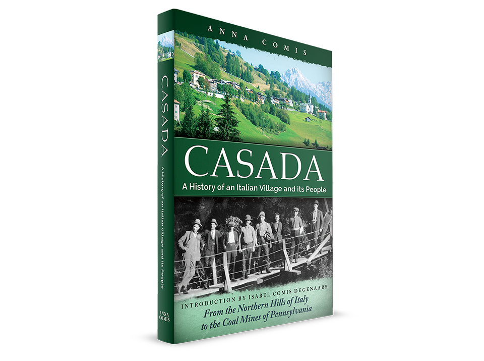 Casada: A History of an Italian Village and its People. Book cover design by Open Heart Designs.