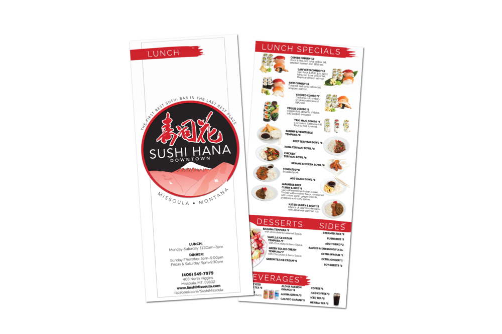 To Go Menu Design